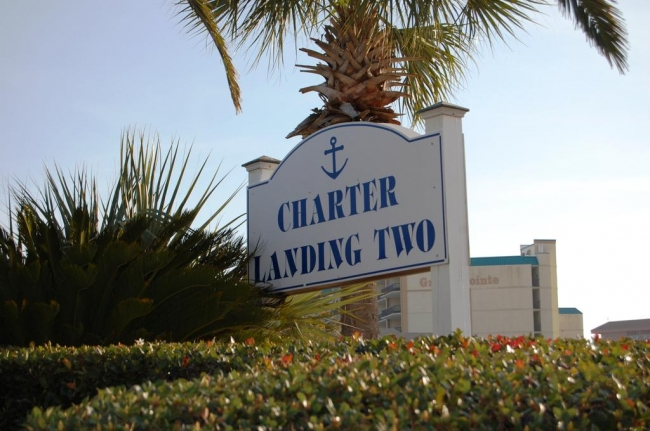 Charter Landing Orange Beach AL Condominium Community Sign