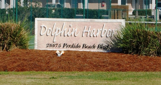 Dolphin Harbor Orange Beach Condo Community Sign