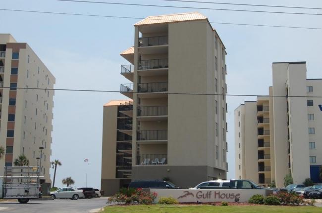 Gulf House Gulf Shores AL Condo Building and Sign