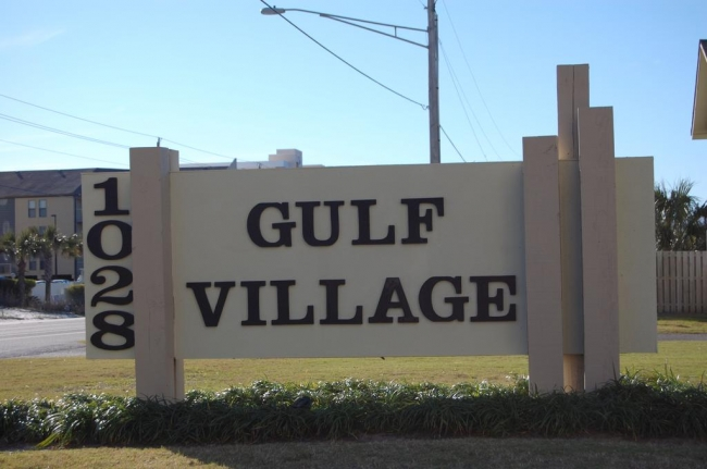 Gulf Village Gulf Shores Alabama  Condo Sign