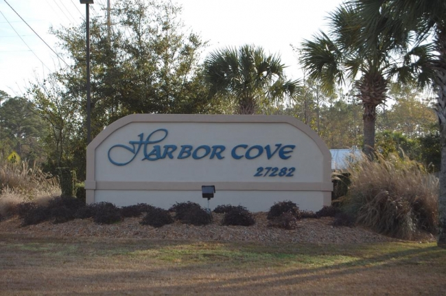 Harbor Cove Orange Beach Condo Community Sign
