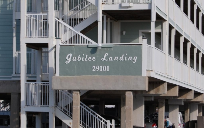 Jubilee Landing Orange Beach AL Condo Sign