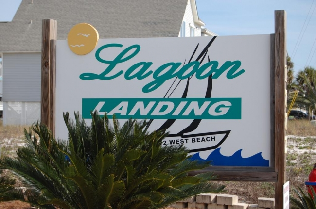 Lagoon Landing Gulf Shores Alabama Condo Community Sign