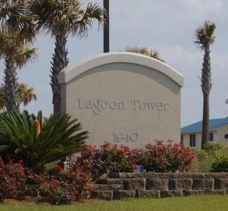 Lagoon Tower Gulf Shores AL Condominium Sign