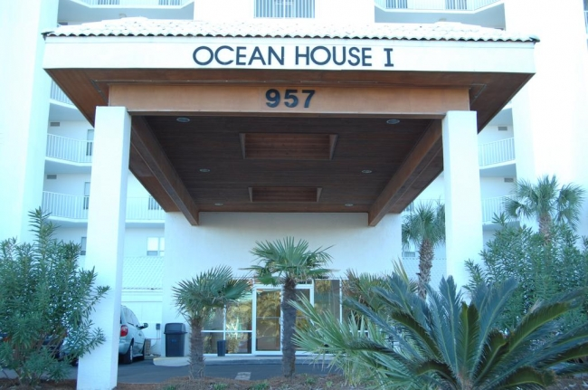 Ocean House 1 Gulf Shores AL Condominium Entrance Sign