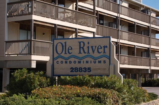 Ole River Orange Beach AL Condominium Sign