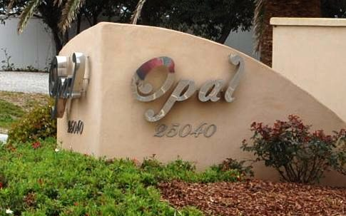Opal Orange Beach AL Condominium Community Sign