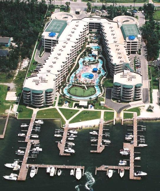 Phoenix on the Bay Orange Beach Condominium Aerial View