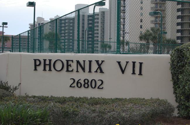 Phoenix VII Orange Beach Condo Sign