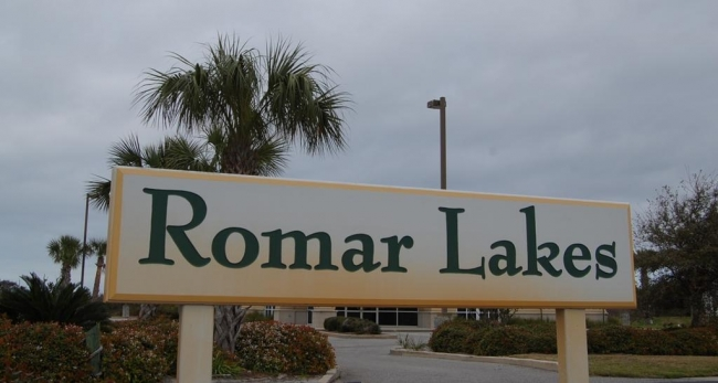 Romar Lakes Orange Beach Condo Sign