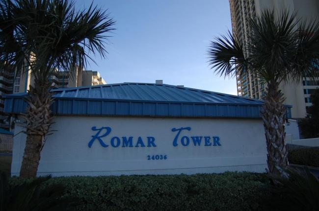 Romar Tower Orange Beach AL Condo Community Sign