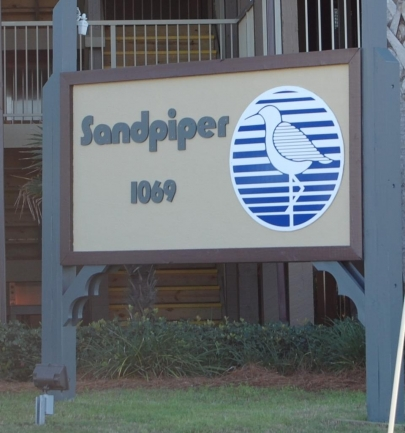 Sandpiper Condominium Sign