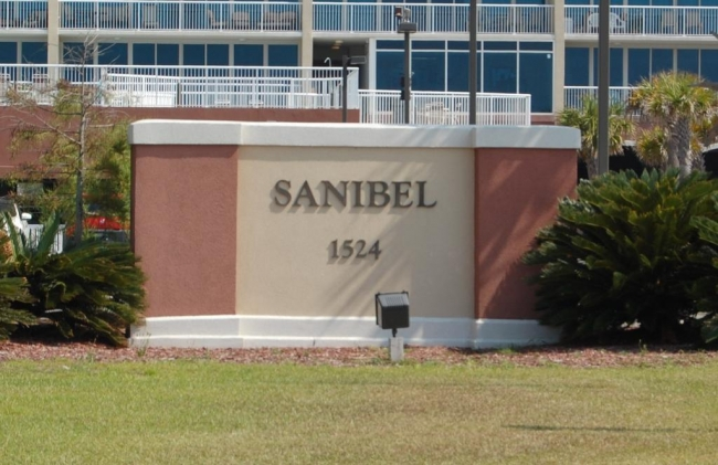 Sanibel Gulf Shores AL Condominium Sign