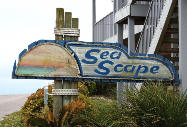 Sea Scape Orange Beach AL Condo Sign