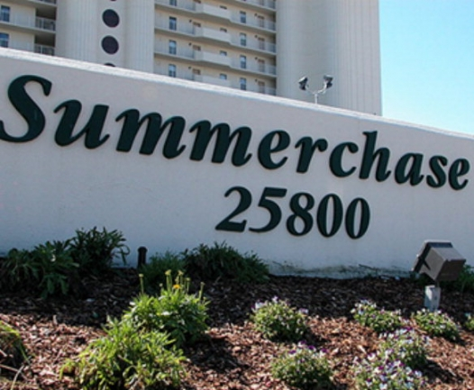 Summerchase Orange Beach AL Condo Sign