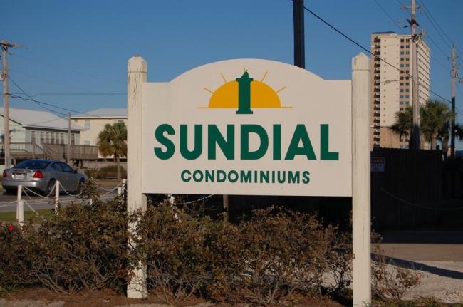 Sundial Gulf Shores AL Condominiums Sign
