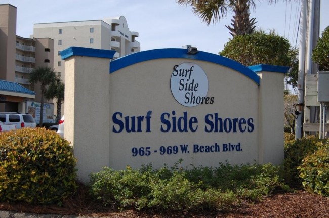 Surfside Shores 1 Gulf Shores AL Condo Sign