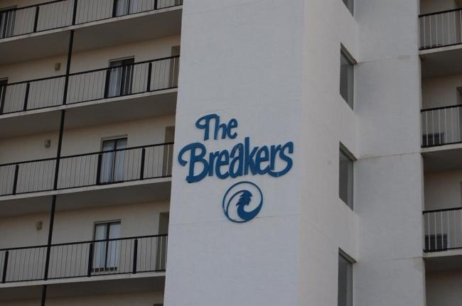 The Breakers Orange Beach AL Condo Sign