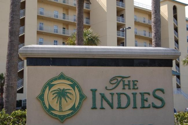 The Indies Gulf Shores AL Condominium Sign
