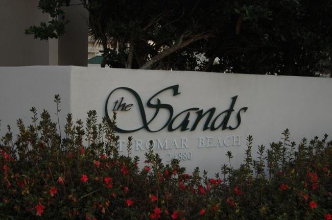 The Sands Orange Beach AL Condo Sign