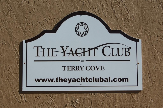 The Yacht Club Orange Beach AL Condo Sign