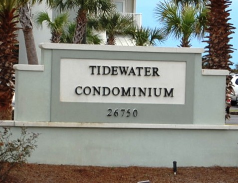 Tidewater Orange Beach AL Condo Sign