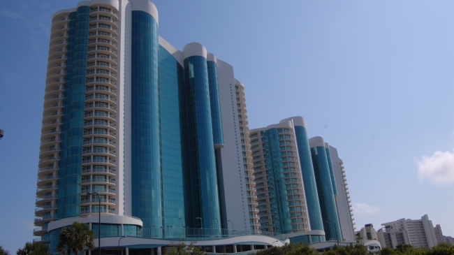 Turquoise Place Condos - Orange Beach - from church parking lot across the street..